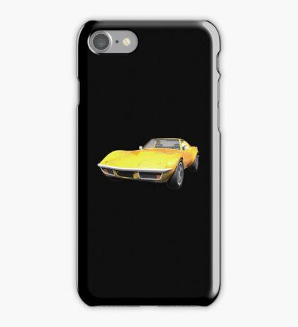 Yellow 1970 Corvette iPhone Case/Skin
