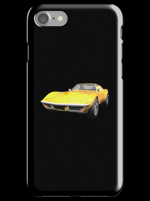 Yellow 1970 Corvette by bradyarnold