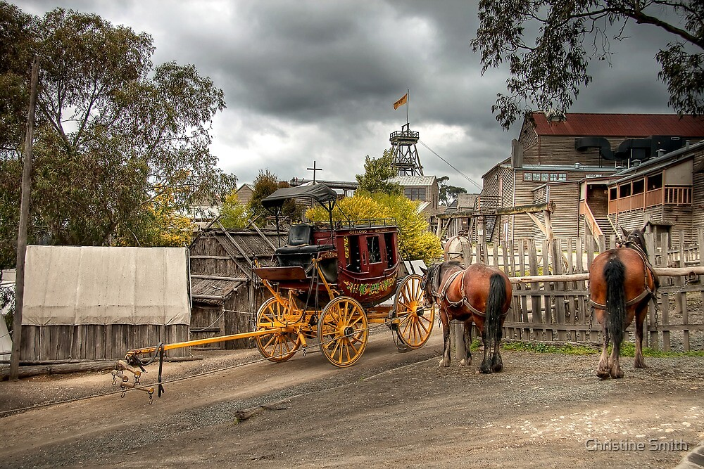 Waiting for the Stagecoach by Christine Smith