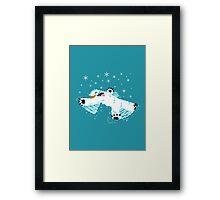 Wampa snow angel  Framed Print