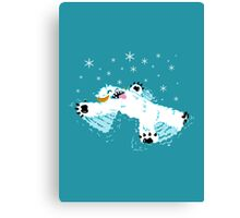 Wampa snow angel  Canvas Print