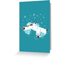 Wampa snow angel  Greeting Card