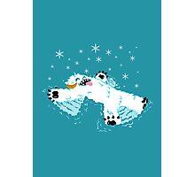 Wampa snow angel  Photographic Print
