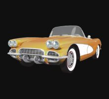 Yellow 1961 Corvette C1 by bradyarnold