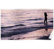 Young Girl At Sunset Poster