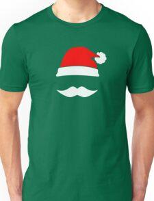 Santa Hat & Mustache Unisex T-Shirt