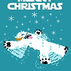 Wampa snow angel christmas card by barry neeson