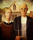 American Gothic iPad Case by Pamela Phelps