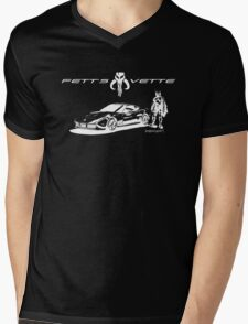 Fett's Vette Mens V-Neck T-Shirt