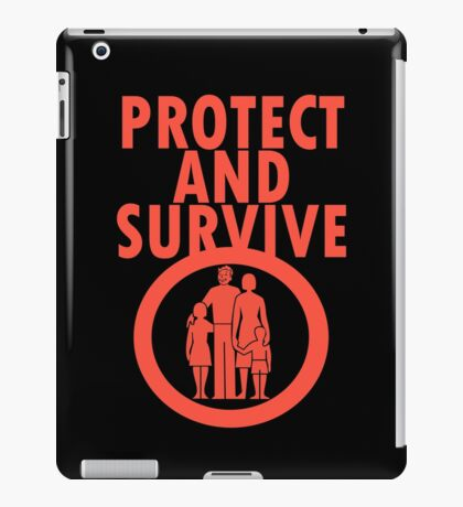 Protect And Survive Boy iPad Case/Skin