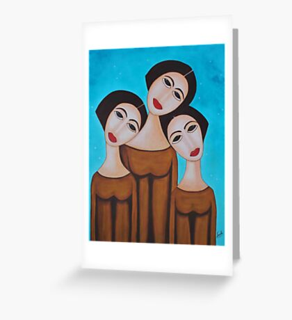 Three Angels Greeting Card