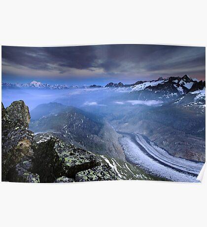 Aletschgletscher Poster