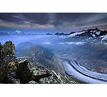 Aletschgletscher Photographic Print