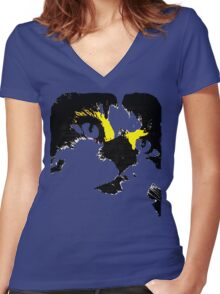 Glam Cat Women's Fitted V-Neck T-Shirt