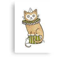 Circus Cat Canvas Print
