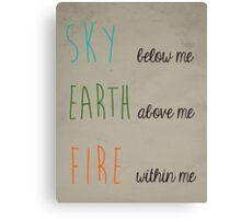 Sky, Earth, & Fire Canvas Print