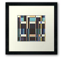 City Blocks And Buildings Framed Print