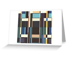 City Blocks And Buildings Greeting Card