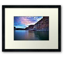 Sunset over Lake Powell Framed Print