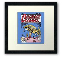 Courage Comics Framed Print