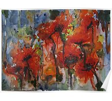 """""""Poppies"""" Poster"""