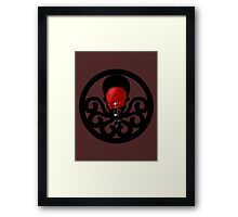 Chibi Red Skull Framed Print