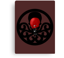 Chibi Red Skull Canvas Print