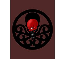 Chibi Red Skull Photographic Print