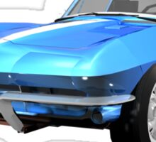 Blue 1967 Corvette Stingray Sticker