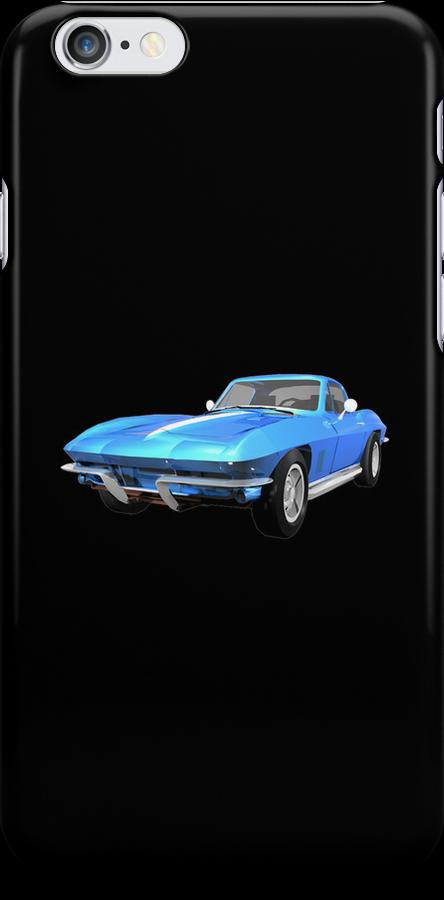 Blue 1967 Corvette Stingray by bradyarnold