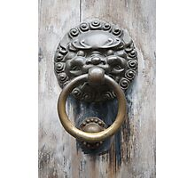 Lion Knocker Photographic Print