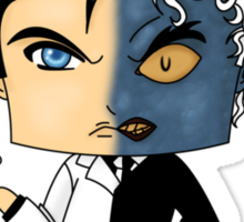 Chibi Two-Face Sticker