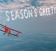 Skywriter with holiday greetings by Carol and Mike Werner