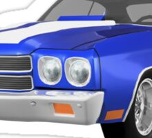 Blue 1970 Chevelle SS Sticker
