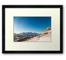 Italian Dolomiti ready for ski season Framed Print