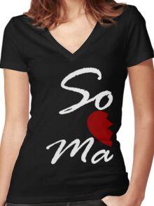 Soul Mate - Right Black Women's Fitted V-Neck T-Shirt