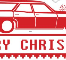 Christmas tree wagon full sweater Sticker