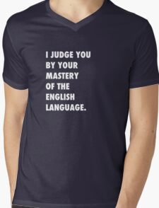 English Language Mens V-Neck T-Shirt