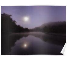 Pre Dawn Moonlight Poster