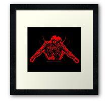 Burning Soul MonoTone Framed Print