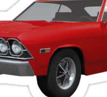 Red 1969 Chevelle SS Sticker