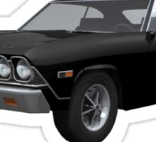 Black 1968 Chevelle SS Sticker