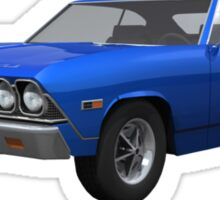 Blue 1968 Chevelle SS Sticker