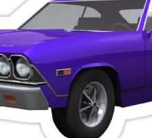 Purple 1968 Chevelle SS Sticker