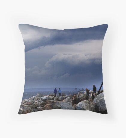 Nor-Easter Brewing Throw Pillow