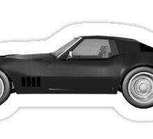 Black 1970 Corvette Sticker