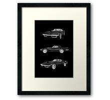Black 1970 Corvette Framed Print