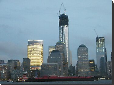 The New World Trade Center at Dusk, Lower Manhattan, New York City by lenspiro