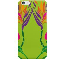 Bird of Paradise | Art Nouveau Floral Stencil Design iPhone Case/Skin