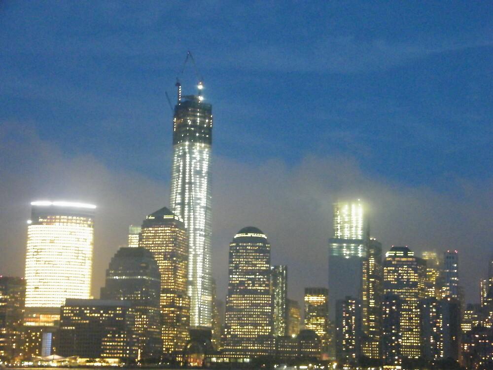 The New World Trade Center at Night, Lower Manhattan, New York City by lenspiro